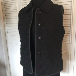 LL Bean black quilted vest